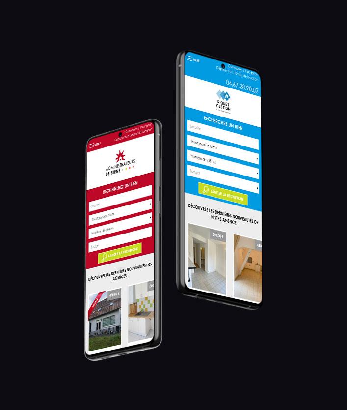 responsive design site immo